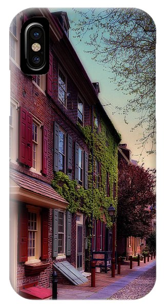 Brownstone iPhone Case - Elfreth's Alley by Mountain Dreams