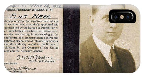 Eliot Ness - Untouchable Chicago Prohibition Agent IPhone Case