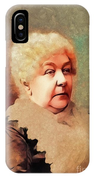 Equal Rights iPhone Case - Elizabeth Cady Stanton, Suffragette by Mary Bassett