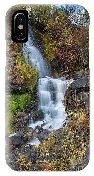Elk Creek Waterfall Waterscape Art By Kaylyn Franks IPhone Case