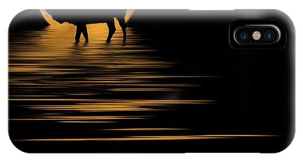 Elk In The Moonlight IPhone Case