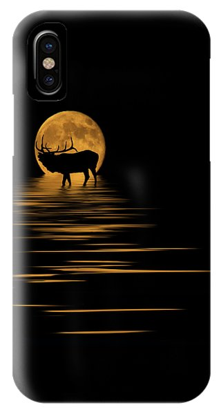 Elk In The Moonlight IPhone Case