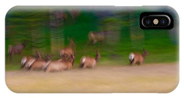 Elk On The Run IPhone Case