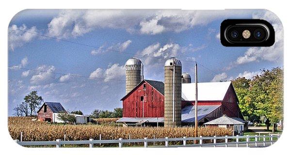 Elkhart County Farm IPhone Case