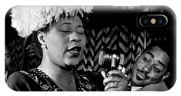 Ella Fitzgerald Dizzy Gillespie And Ray Brown William Gottlieb Photo Nyc 1947-2015 IPhone Case