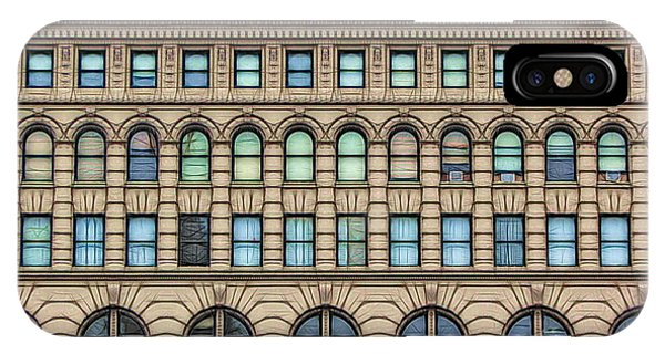 Ellicott Square Building Buffalo Ny Ink Sketch Effect IPhone Case