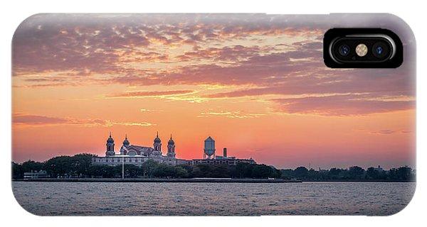 Ellis Island At Sunset IPhone Case
