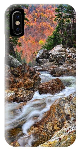 Ellis River Autumn View IPhone Case