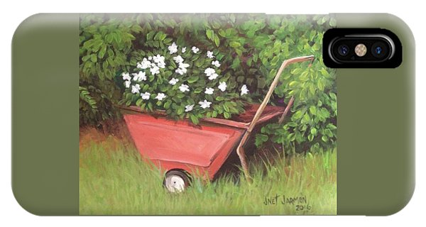 IPhone Case featuring the painting Eloise's Garden Cart by Jeanette Jarmon