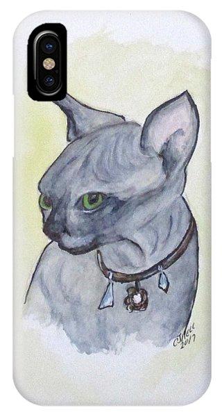 Else The Sphynx Kitten IPhone Case