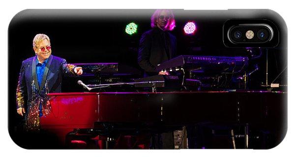 Elton - Enjoying The Show IPhone Case