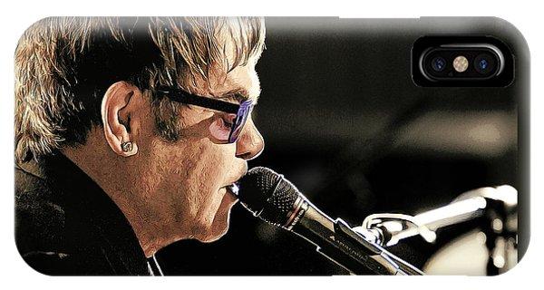 Elton John At The Mic IPhone Case