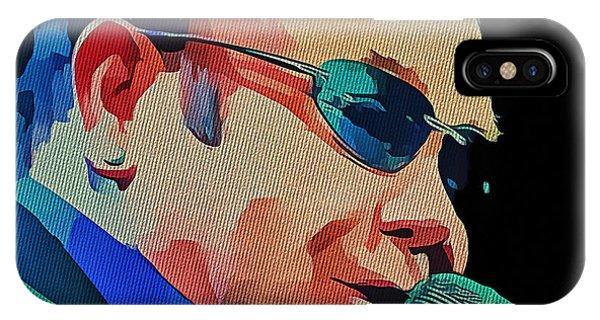 Elton John Blue Eyes Portrait 2 IPhone Case