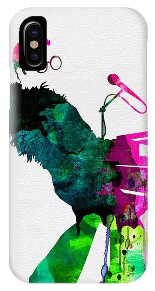 Concert iPhone Case - Elton Watercolor by Naxart Studio