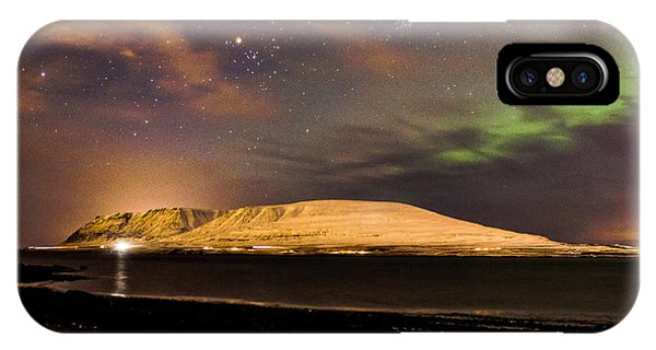 Elv Or Troll And Viking With A Sword In The Northern Light IPhone Case
