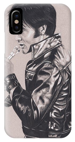 Elvis In Charcoal #177, No Title IPhone Case