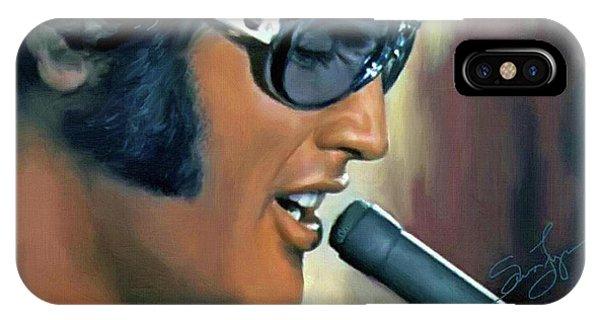 Elvis Presley Art 15 IPhone Case