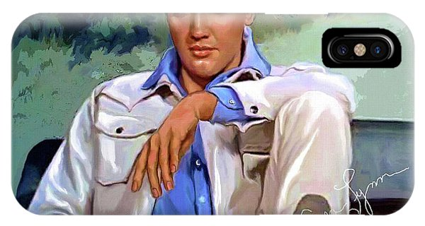 Elvis Presley Art 18 IPhone Case