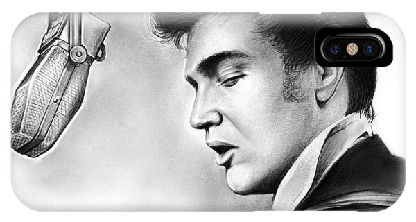Rock And Roll iPhone Case - Elvis Presley by Greg Joens