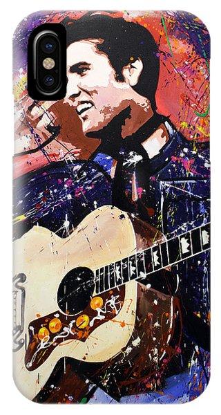 Guitar Legends iPhone Case - Elvis Presley by Richard Day