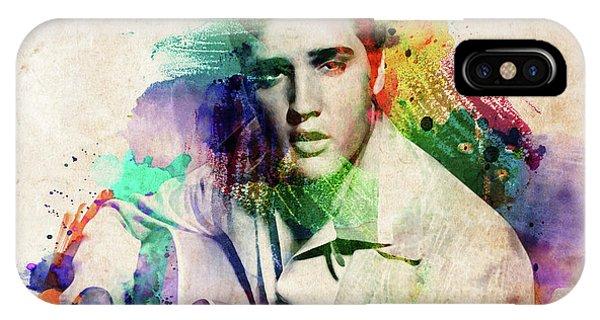 Elvis Presley With Guitar IPhone Case
