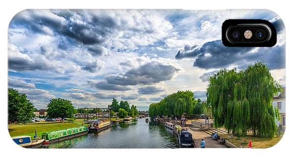 IPhone Case featuring the photograph Ely Riverside by James Billings