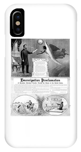 Abraham Lincoln iPhone Case - Emancipation Proclamation by War Is Hell Store