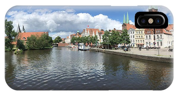 Embankment Of Trave In Luebeck IPhone Case