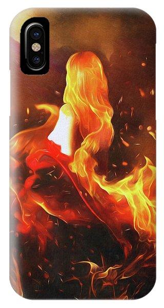 Flammable iPhone Case - Ember by Karen Koski