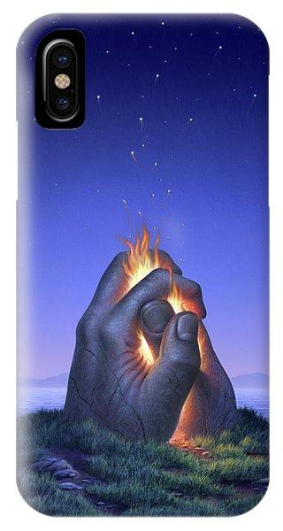 Body iPhone Case - Embers Turn To Stars by Jerry LoFaro