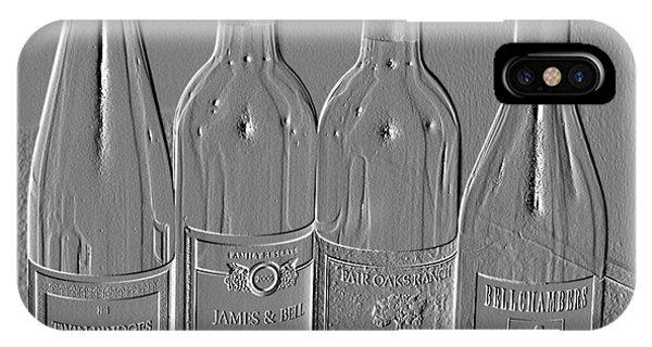 Embossed Wine Bottles IPhone Case