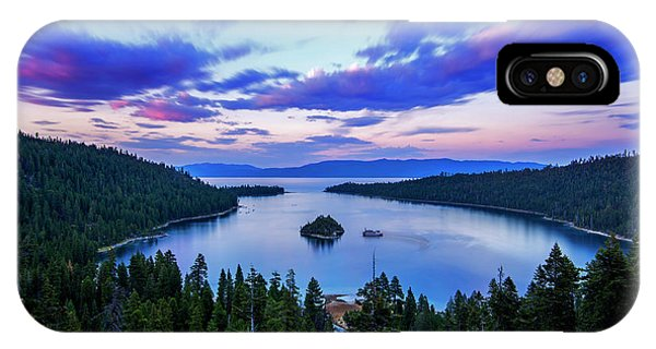 Emerald Bay And Ms Dixie At Sunset By Brad Scott IPhone Case