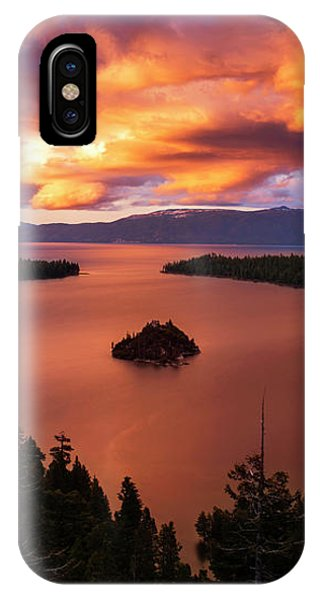 Emerald Bay Fire IPhone Case