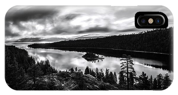 Emerald Bay Rays Black And White By Brad Scott IPhone Case