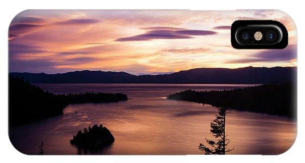 Emerald Bay Sunrise - Lake Tahoe, California IPhone Case
