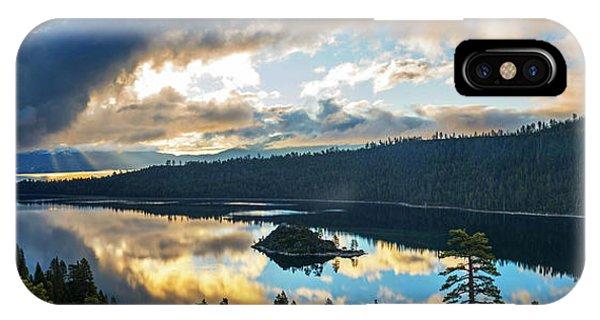 Emerald Bay Sunrise Rays IPhone Case