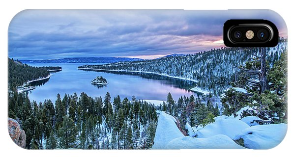 Emerald Bay Winter Sunrise IPhone Case