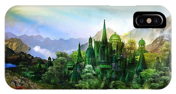 Poppies iPhone Case - Emerald City by Karen Koski
