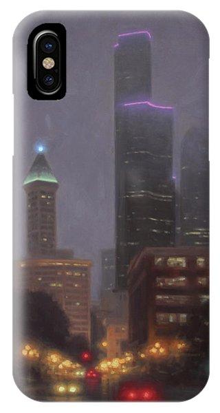 iPhone Case - Emerald City Lights by Ezra Suko