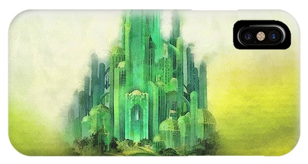 Wizard iPhone X / XS Case - Emerald City by Mo T