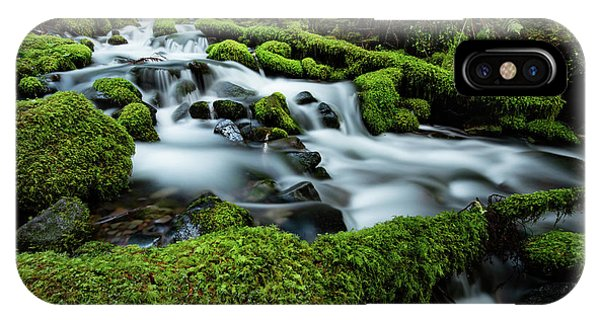 Olympic National Park iPhone Case - Emerald Flow by Edgars Erglis