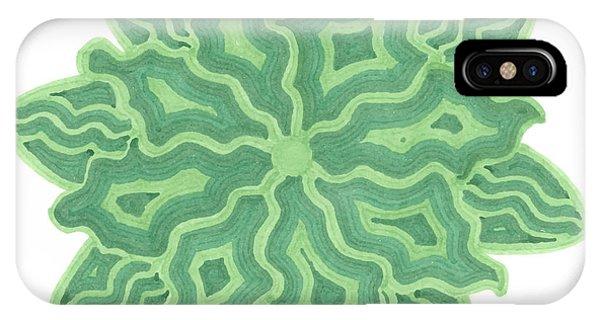 Emerald Flower IPhone Case