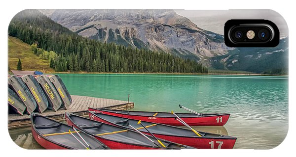 IPhone Case featuring the photograph Emerald Lake 2009 01 by Jim Dollar