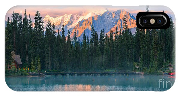 Rocky Mountain Np iPhone Case - Emerald Lake by Henk Meijer Photography