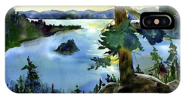 Emerald Morn, Lake Tahoe IPhone Case