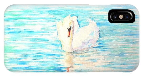 Emerald Swan IPhone Case