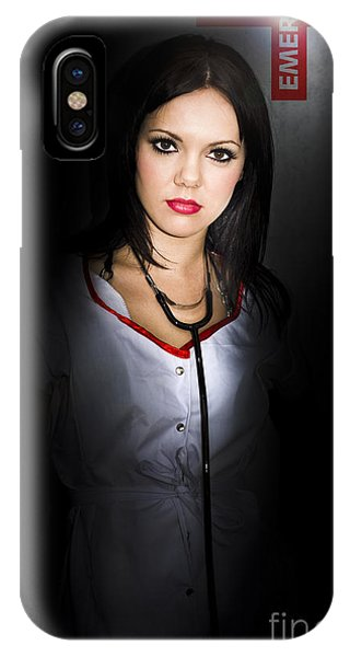 Well Being iPhone Case - Emergency Department Nurse by Jorgo Photography - Wall Art Gallery