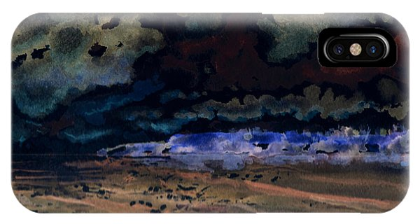 IPhone Case featuring the painting Emerging Darkness by Reed Novotny