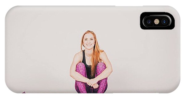 Workout iPhone Case - @emilymsmith49 The Yoga Yogi by David Haskett II