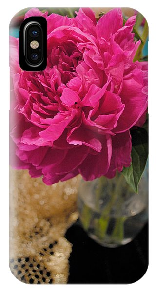 IPhone Case featuring the photograph Emily's Peonies  by Kate Word